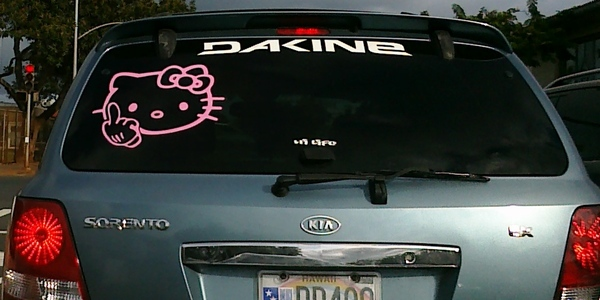 O Kitty Car Stickers For Windows Kamos Sticker - Hello kitty car decal stickers